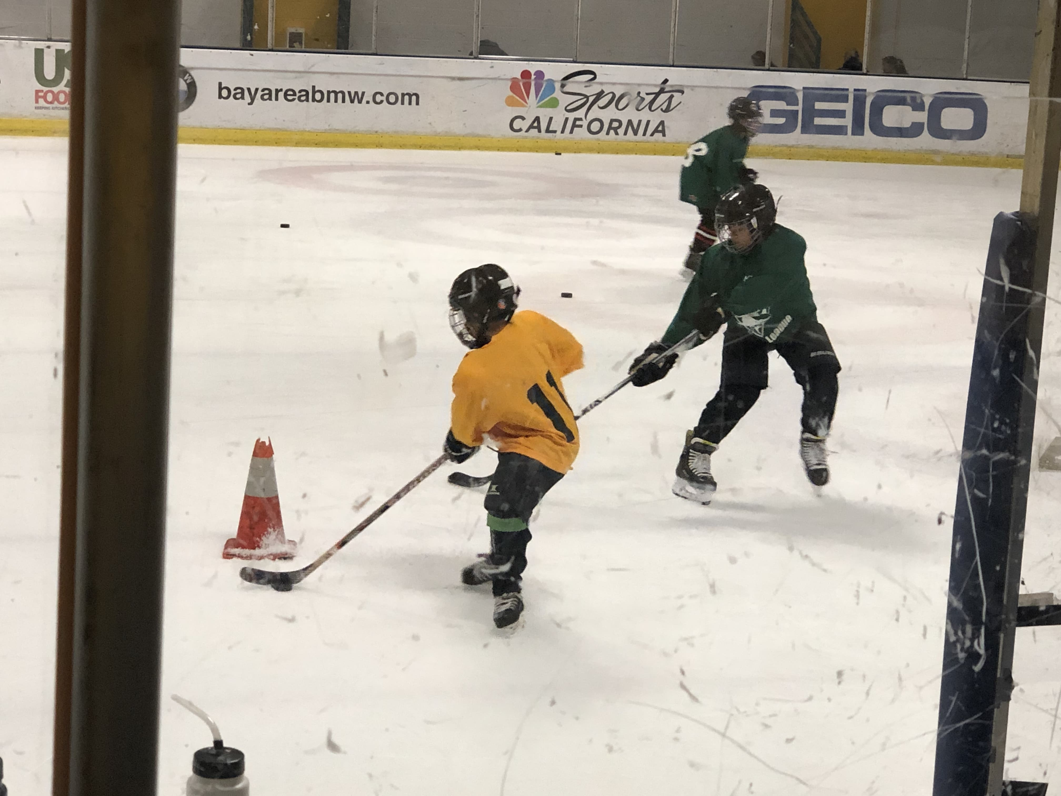 Kids are practicing in the IN HOUSE HOCKEY LEAGUE